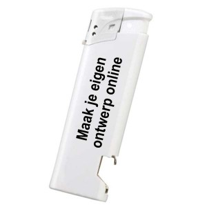 Aansteker elektronisch met opener - Enkelzijdig