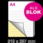 A4 Doordruksets - Blok 2voudig
