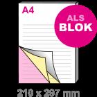 A4 Doordruksets - Blok 3voudig