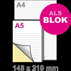 A5 Doordruksets - Blok 2voudig