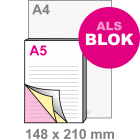 A5 Doordruksets - Blok 3voudig