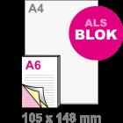 A6 Doordruksets - Blok 3voudig