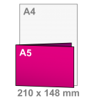 Folder A4 lang naar A5
