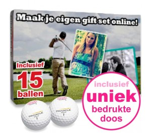 Golfballen Giftset - 15 stuks inclusief doosje