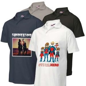 Poloshirt bedrukken: Achterkant