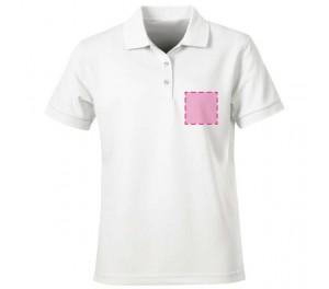 Poloshirt bedrukken: Voorkant op de borst