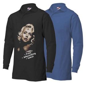 Polosweater bedrukken: Voorkant + achterkant