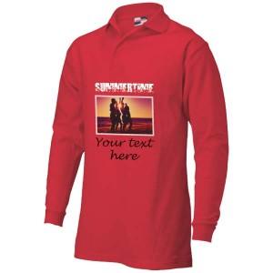 Polosweater bedrukken: Voorkant