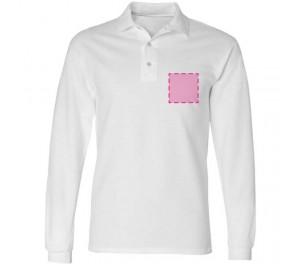 Polosweater bedrukken: Voorkant op de borst