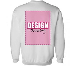 Sweater bedrukken: Achterkant