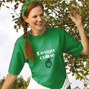 Dames T-shirt bedrukken: Achterkant
