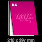 A4 Notitieblok bedrukken - met dekblad