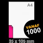 Sticker drukken 35x105 mm