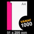 Sticker drukken 51x298 mm