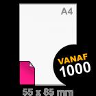 Sticker drukken 55x85 mm