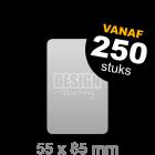 Plastic visitekaartjes drukken - 55x85 mm staand