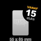 Plastic visitekaartjes - 55x85 mm staand